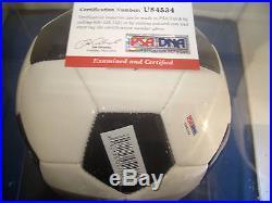 PELE Brazil SIGNED Autographed MT Mint PSA/DNA COA SOCCER BALL Regulation Size