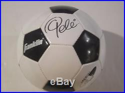 Pele Hand Signed Autographed Franklin Soccer Ball With Coa