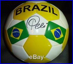 Pele' Hand Signed Brazil Soccer Ball