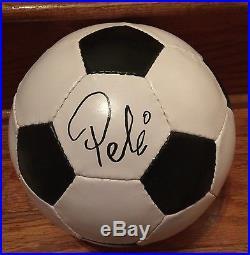 PELE Signed Soccer Ball Autograph With Brazilian Football Confederation (CBF) COA