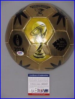 PHILIPP LAHM Hand Signed 2014 World Cup Soccerball + PSA DNA COA BUY GENUINE