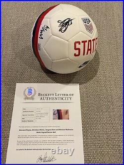 PULISIC, MCKENNIE, DEST, REYNA Signed Autographed USA Soccer Ball BECKETT LOA