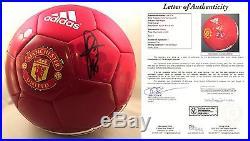Paul Pogba Signed Manchester United Soccer Ball Futbol France Juventud JSA Lette
