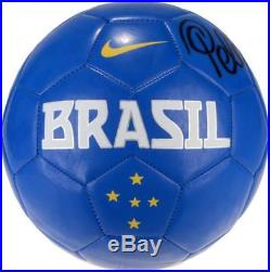 Pele Autographed MLS Brazil Logo Soccer Ball Fanatics