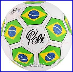 Pele Autographed MLS Brazil Logo Soccer Ball Fanatics Authentic Certified