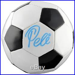 Pele Autographed MLS Soccer Ball Damaged ITP PSA/DNA Certified