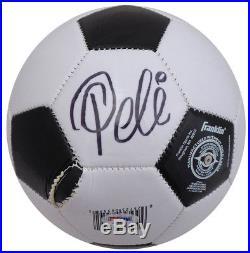 Pele Autographed Signed Franklin Soccer Ball Brazil (Damaged) PSA/DNA #AA39639