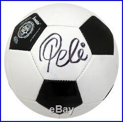 Pele Autographed Signed Franklin Soccer Ball Cbd Brazil Beckett Bas 162347