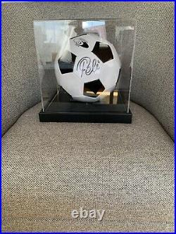 Pelé Autographed Signed Retro Football WIth COA Brazil Legend Auto