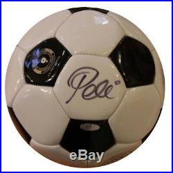 Pele Autographed Soccer Ball Ssm