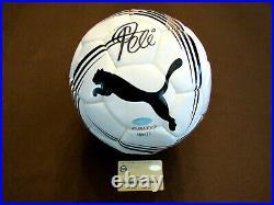 Pele Brazilian Brazil Cosmos Hof Signed Auto Pro Puma Soccer Ball Steiner Gem