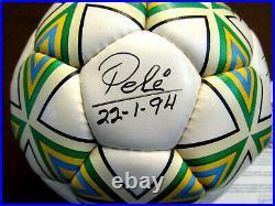 Pele Brazilian Brazil Soccer Superstar Hof Signed Auto Pele Umbro Ball Jsa Loa