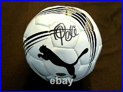 Pele Brazilian Soccer Superstar Cosmos Hof Signed Auto Puma Esito Ball Steiner