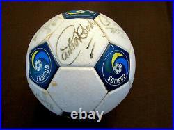Pele Carlos Alberto Ny Cosmos Hof 8x Signed Auto 1979 Official Soccer Ball Jsa