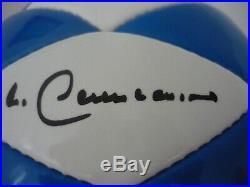 Pele Maradona Beckenbauer Eusebio and Gerd Muller Hand Signed Ball 2006