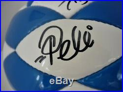 Pele Maradona Beckenbauer and Gerd Muller Hand Signed Ball 2006