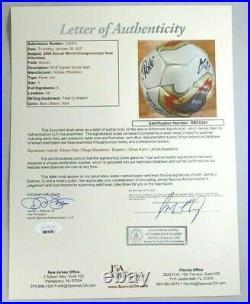 Pele Maradona Eusebio Muller Kahn Neeskins Signed Autograph Auto Soccer Ball Jsa