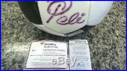 Pele Signed Baden Soccer Ball Autographed Black and White With COA 115781-1 EO