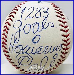 d4ec64547 Pele Signed Baseball with 1283 Goals 0 Home Runs Inscription PSA DNA Auto
