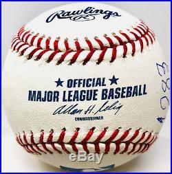 Pele Signed Baseball with 1283 Goals 0 Home Runs Inscription PSA/DNA Auto
