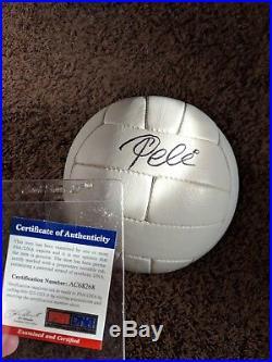 Pele Signed Throwback Soccer Ball