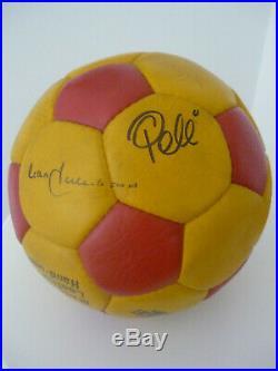 Pele and Franz Beckenbauer NY Cosmos Hand Signed Ball