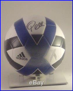 Pele autographed Adidas soccer ball COA