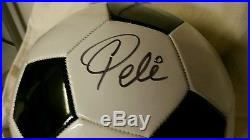 Pele hand signed Franklin Soccer Ball with COA