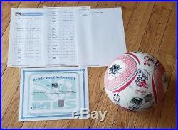 Philadelphia Union 2011 Game Used Team Signed Soccer Ball MLS Works COA