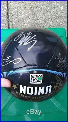 Philadelphia Union Autographed Soccer Ball 2013/2014 Team