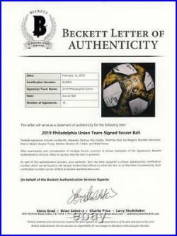 Philadelphia Union Signed MU Kick Childhood Cancer Ball 2019 Season & 18 Sig