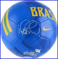 Philippe Coutinho F. C. Barcelona Autographed Nike Brazil Blue Soccer Ball