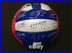 RARE Korea Suwon Samsung Bluewings PROMO Team Member Printed Signed Soccer Ball