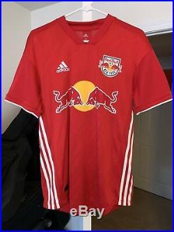 RARE TYLER ADAMS signed (NEW YORK RED BULLS) MLS GAME WORN JERSEY USA SOCCER