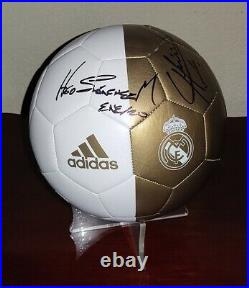 REAL MADRID Ball signed autograph HUGO SANCHEZ CHICHARITO Proof MEXICO Legends