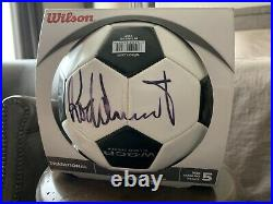 ROCK STAR Rod Stewart Signed Soccer Ball