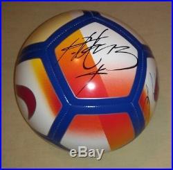 RONALDINHO & RAFAEL MARQUEZ signed autographed Barcelona PROOF Mexico Brasil