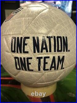 Rapinoe Morgan Naeher Team USA Signed Nike One Nation Soccer Ball JSA Witnessed