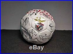 Rare Benfica Slb Signed Football Soccer Ball Season 2009 / 2010