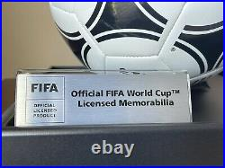 Rare! Diego Maradona Signed 1986 FIFA World Cup Ball In Acrylic Case (ICONS) New