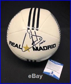 Raúl González Blanco Signed Real Madrid Soccer Ball BAS Beckett B55758