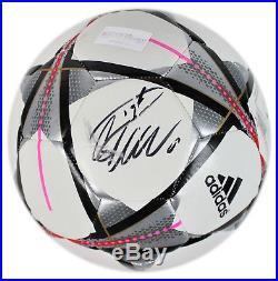 Real Madrid Cristiano Ronaldo Signed Adidas UEFA CL Logo Soccer Ball Fanatics
