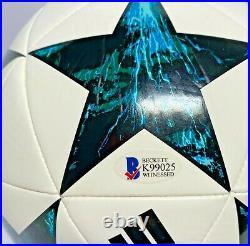 Real Madrid Sergio Ramos Signed Adidas Champions League Ball Beckett Witnessed