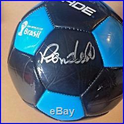 Renaldo Autographed Soccer Ball Rare Fifa World Cup Brasil Powerade Ball