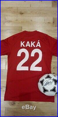 Ricardo KAKA autograph signed official adidas ball & shirt