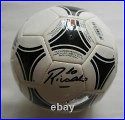 Rivaldo Autogramm Signed Brazil adidas Soccer Ball display box with ICONS COA