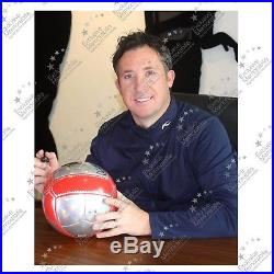 Robbie Fowler Signed Liverpool Football Soccer Ball Display Case