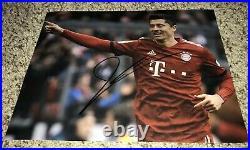 Robert Lewandowski Signed 8x10 Photo Bayern Munich Poland With Exact Proof
