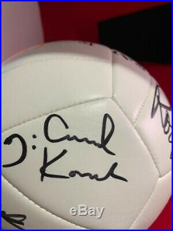 Rod Stewart Authentic Signed Soccer Ball with back up singers signatures also