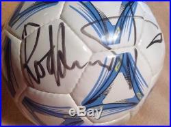 Rod Stewart Autographed Soccer Ball